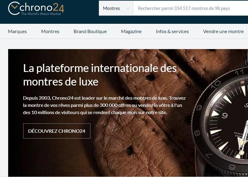 Page accueil chrono24
