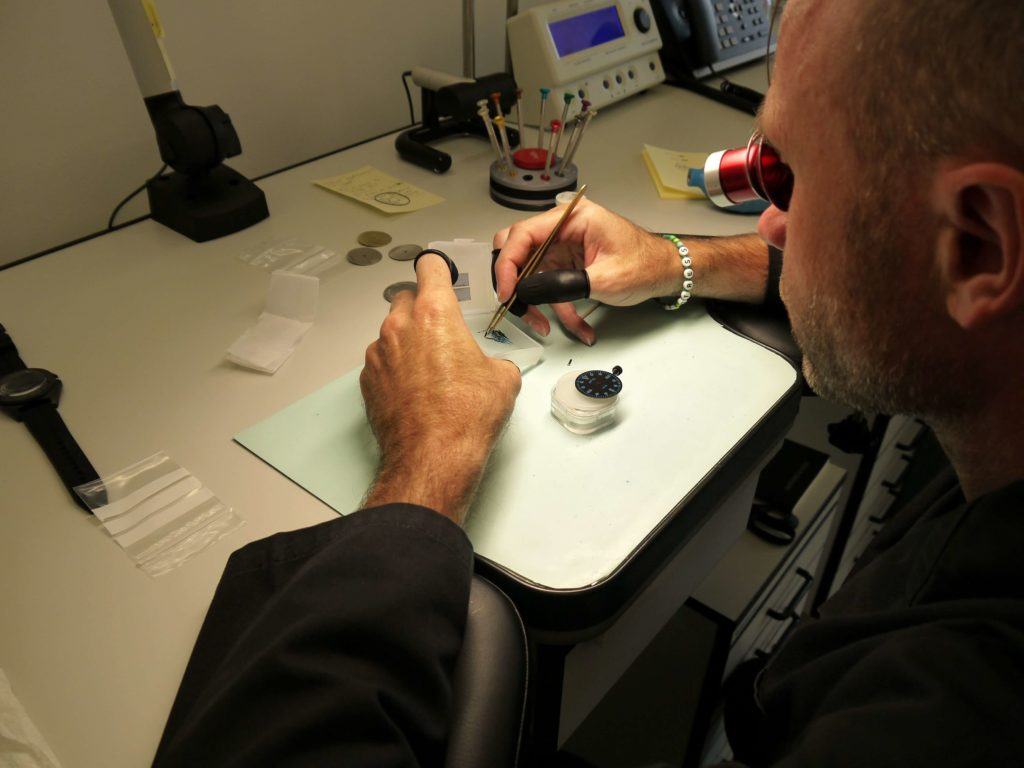Watchmaker working at The Hive